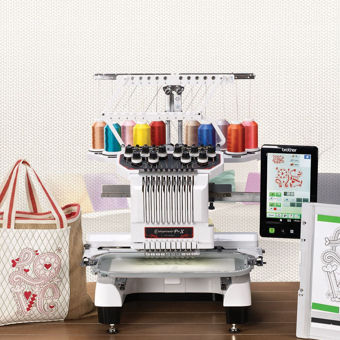 Brother PR1050X Embroidery Only Multi-needle machine
