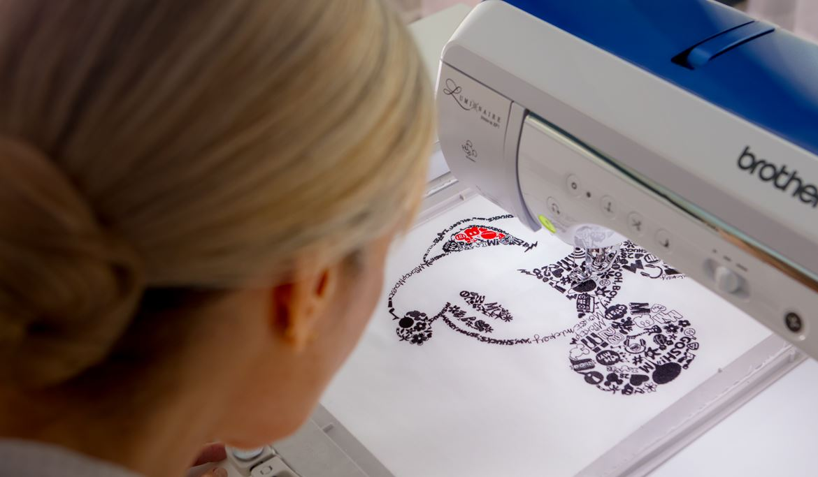 Disney Embroidery Machine with over 192 Disney Designs on the Brother Luminaire