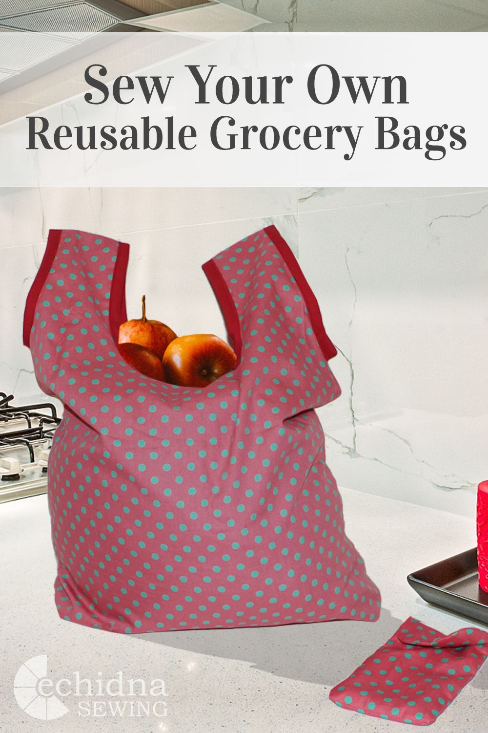 Sew your own resuable grocery bag pattern