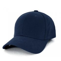 AH230 Navy Heavy Brushed Cotton with Velcro Cap