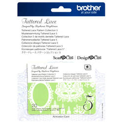 Brother Tattered Lace Pattern Collection 5 for Scan N Cut Canvas