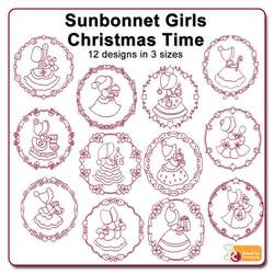 Sunbonnet Girls Christmas Time by Echidna Designs Download