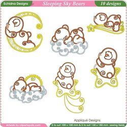 Sleeping Sky Bears by Echidna Designs Download