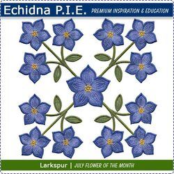 Echidna P.I.E. Larkspur July Birth Month Flower