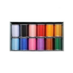 12 Colour Satin Thread Set XC5517002