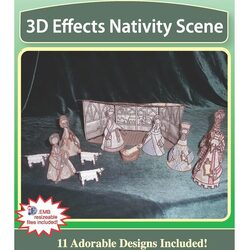 3D Effects Nativity Scene