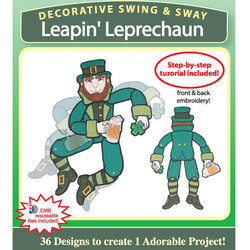 Decorative Swing and Sway Leprechaun