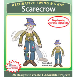 Decorative Swing and Sway Scarecrow