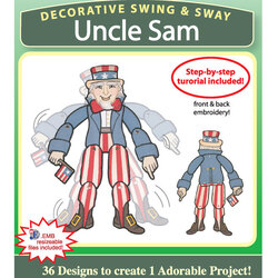 Decorative Swing and Sway Uncle Sam