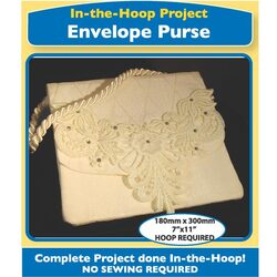 In The Hoop - Envelope Purse with Lace