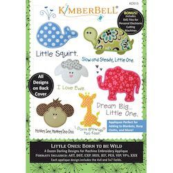 Kimberbell Little Ones: Born to be Wild Embroidery Designs CD: Volume 1