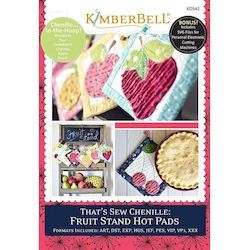 That's Sew Chenille: Fruit Stand Hot Pads Machine Embroidery Project CD