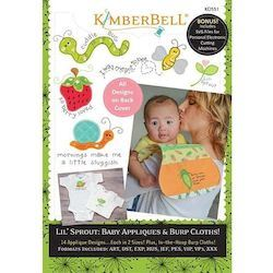 Lil' Sprout Baby Appliques & Burp Cloths Machine Embroidery Project CD