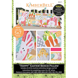 Hoppy Easter Bench Pillow (Machine Embroidery CD)