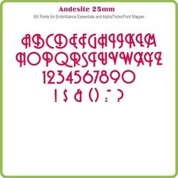 Andesite 13mm BX Font - Download Only