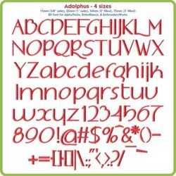 Adolphus BX Fonts - Various Sizes - Download Only