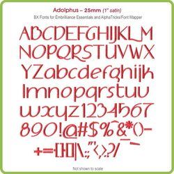 Adolphus 25mm BX Font - Download Only