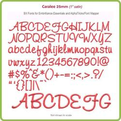 Caralee 25mm BX Font for Embrilliance Essentials and AlphaTricks - Download Only