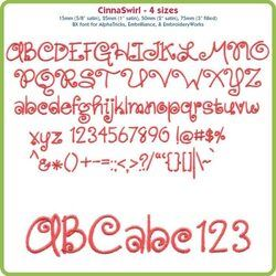CinnaSwirl BX Font - Various Sizes - Download Only