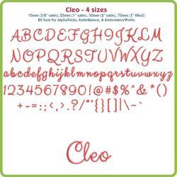 Cleo BX Font - Various Sizes - Download Only