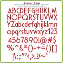 Cristovan BX Font - Various Sizes - Download Only