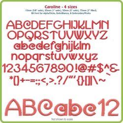 Caroline BX Font - Various Sizes - Download Only