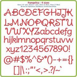 Frangelica BX Font - Various Sizes - Download Only