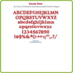 Goudy 8mm BX File - Download Only