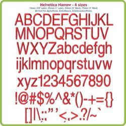 Helvetica Narrow BX Fonts - Various Sizes - Download Only