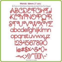 Mandy 50mm BX Font - Download Only