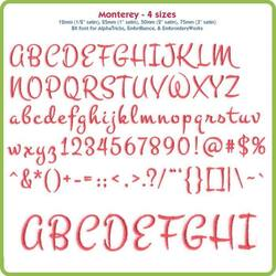 Monterey BX Font - Various Sizes - Download Only