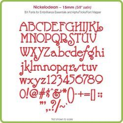 Nickelodean 15mm BX Font - Download Only