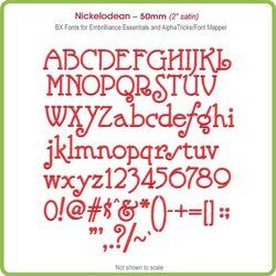 Nickelodean 50mm BX Font - Download Only