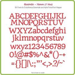 Quando  75mm BX Font - Download Only