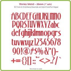 Stoney Island 25mm BX Font - Download Only