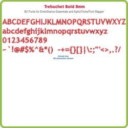 Trebuchet Bold 8mm BX File - Download Only