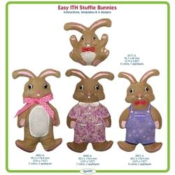 Easy In-The-Hoop Stuffie Bunnies by Lindee Goodall
