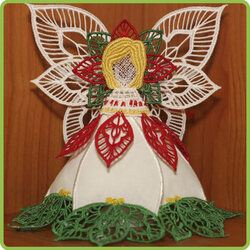 Poinsettia Lace Angel
