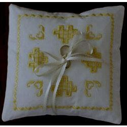 Hardanger Ring Bear Wedding Pillow - Download only