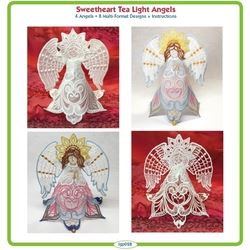 Sweetheart Tea Light Angels by Lindee Goodall