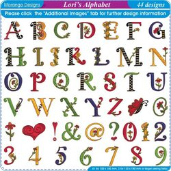 Lori's Alphabet by Morango Designs