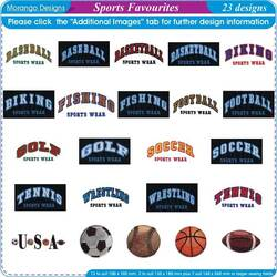 Sports Favorites by Morango Designs