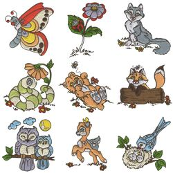 Forrest Critters (10 designs) by Outback Embroidery - Download