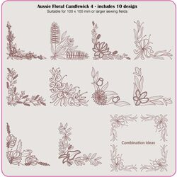 Aussie Floral Candlewick 3 & 4 by Dawn Johnson