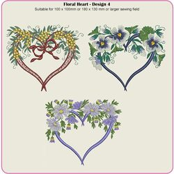 Floral Hearts 4 by Dawn Johnson