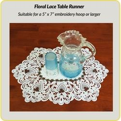 Floral Lace Table Runner by Dawn Johnson Download