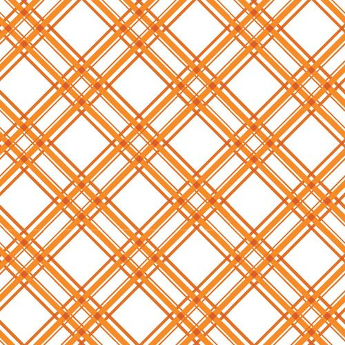 Orange Diagonal Plaid - Kimberbell Basics Fat Quarter