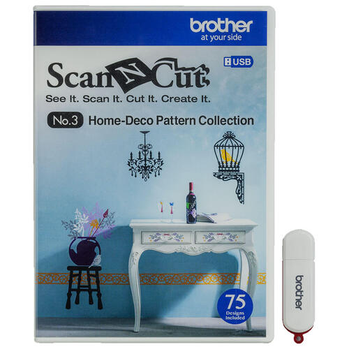 ScanNCut - USB No.3 Home-Deco Pattern Collection 113E06E7003