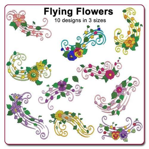 Flying Flowers by Echidna Designs Download