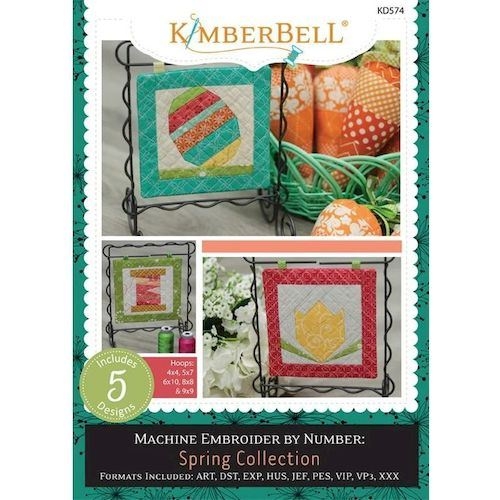 Machine Embroider By Number: Spring Collection CD